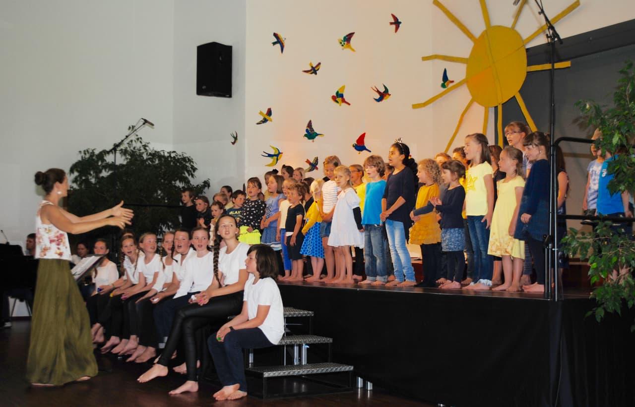 Kinderchor lernen in Au: Kinderchor-Unterricht an der JMS