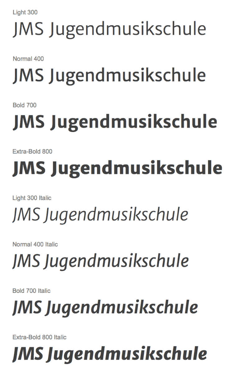 JMS Font Schrift-Art: Merriweather Sans